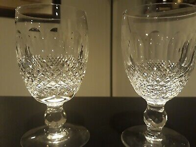 2pc Waterford Crystal Colleen Edition Short Stem Claret Wine Glasses-MINT COND!!