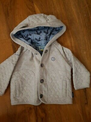 Ted Baker Baby Boys Hooded Grey Jacket Age 3-6 Months Excellent Condition