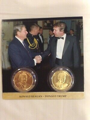 2020 ELECTION YEAR President Trump And President Reagan Commemorative Coins