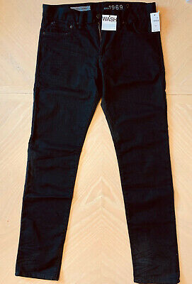 GAP Men's Black 1969 Jeans, Skinny Stretch, 30X30  NEW!