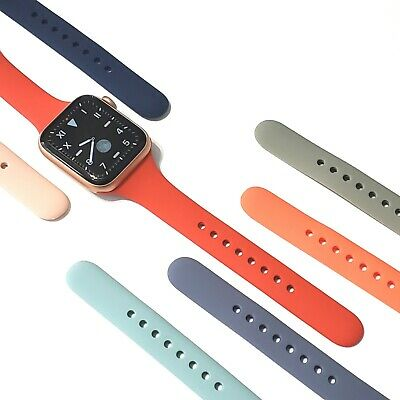 Soft Silicone Narrow / Slim Sport Band for Apple Watch Series 5, 4, 3, 2,1