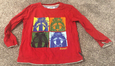 Boys Red Ted Baker Top Age 2-3