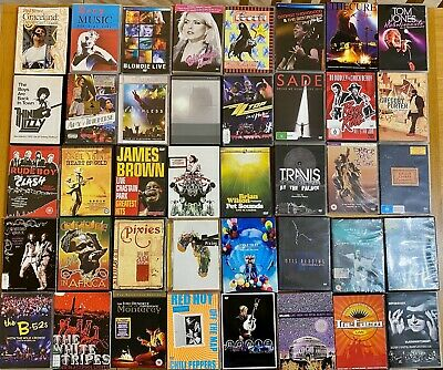 Job Lot Of 40 Live Concert / Gig Dvds Many Of Which Are All Time Classics
