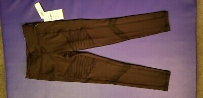 Nwt Old Navy Girls Black Go Dry Leggings With Mesh. Size 6/7