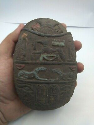 RARE ANCIENT EGYPTIAN ANTIQUE SCARAB Carved Stone 1518-1369 BC (4)