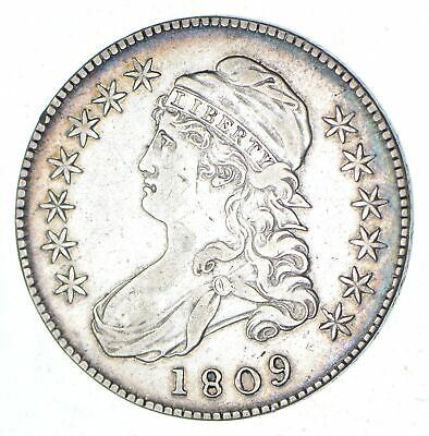 1809 Capped Bust Half Dollar - XXX Edge - Circulated *7034