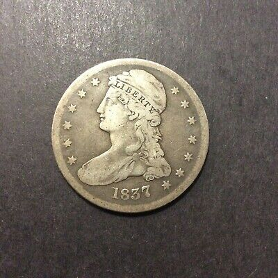 1837 Capped Bust Half Dollar, awesome early coin! see pics and description!