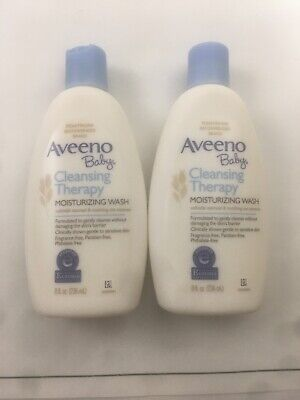 """AVEENO """"Baby"""" Cleansing Therapy Moisturizing Wash 8 Fl Oz 2-PACK"""