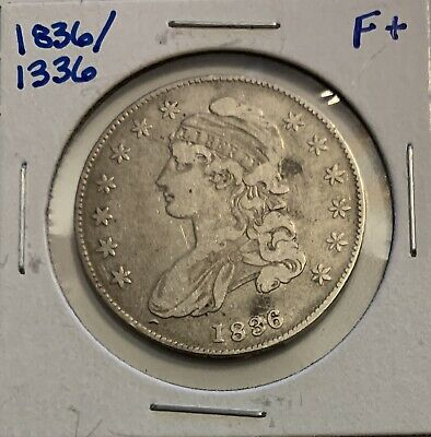1836 / 1336 Overdate Capped Bust Half Dollar