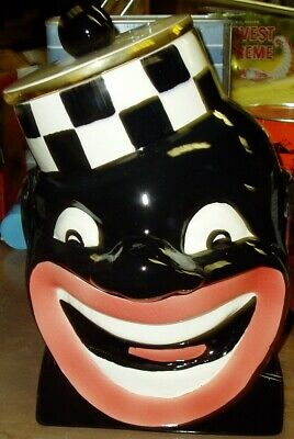 Rare Black Bell Captian Cookie Jar Limited Edition Black Americana Mcme Product