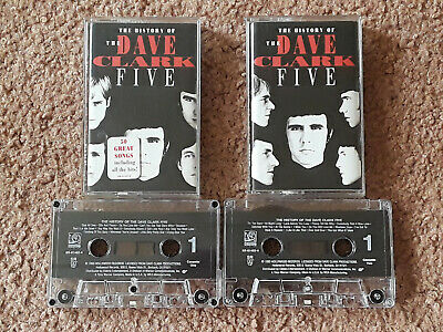 The Dave Clark Five 5 - The History of (2 tape Set) - cassette tapes - Like New