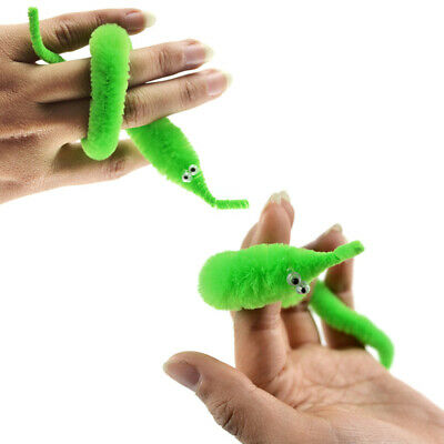 6/10/20X Magic Twisty Fuzzy Worm Wiggle Moving Sea Horse Kid Trick Toy FUNNY NEW