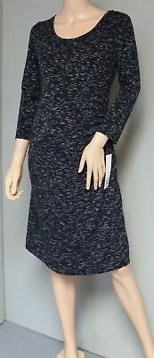 LIZ LANGE MATERNITY KNIT SHIRT DRESS ROUCHED SIDES 3/4 SLEEVES Size S
