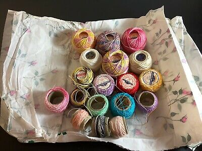 Vintage Tatting Thread Lot Misc Colors Brands