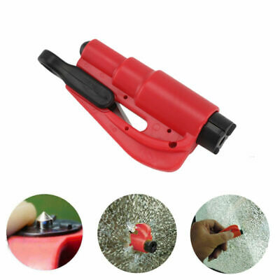 Emergency Safety Escape Car Glass Window Breaker Hammer Keyring Seat Cutter Red