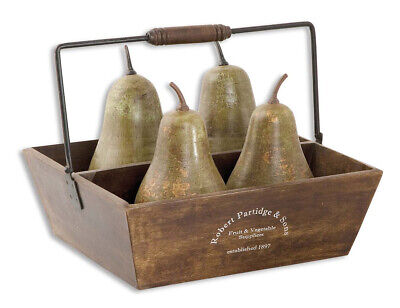 Uttermost 19170 Pears In Basket Decorative Object or Figurine