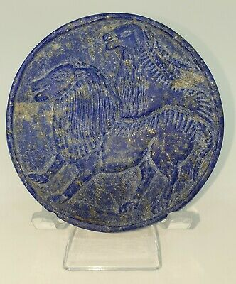 A very Lovely Beautiful Sasanian Lapis lazuli circle tablet/plate