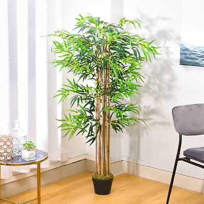 5FT Artificial Bamboo Plant In Pot Office Home Living Room House Decor Fake Tree