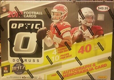 2019 donruss OPTIC football 💥 collector box factory sealed 🔥 1 AUTO & 1 MEM
