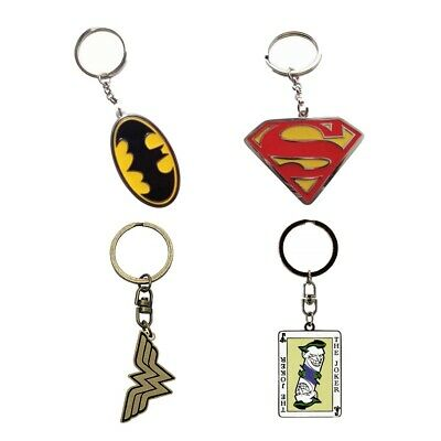 Genuine DC Comics Metal Keyring Key Fob - Batman Superman Green Lantern Joker