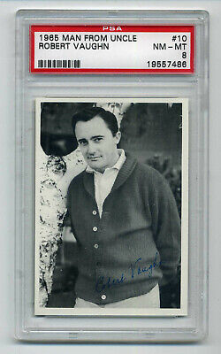 1965 Topps Man From Uncle #10  Robert Vaughn    Psa Nm-Mt 8