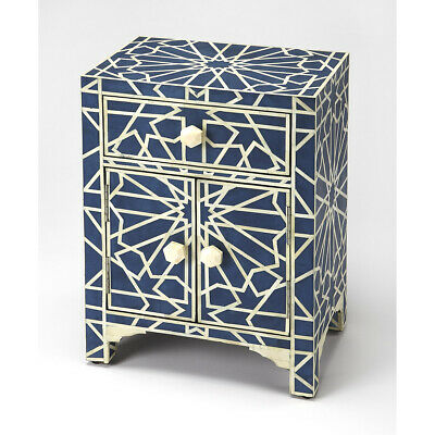 Bone Inlay Camile  Blue Bone Inlay Chest/Cabinet