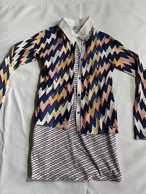 Stylish Girls Kenzo Outfit Polo dress And Cardigan Age 10 Comes Up Small Age 7/8