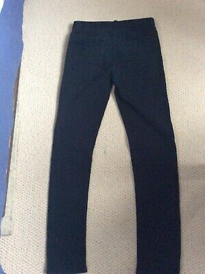 "denim co skinny jeans boys/ youths w28"" x  L32""  black"
