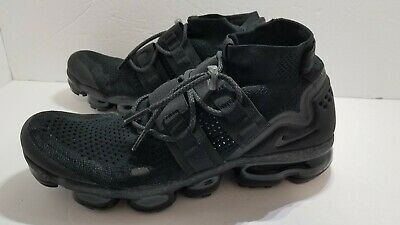 Nike Air Vapormax FLYKNIT UTILITY Mens SIZE 11.5 Triple Black AH6834-001 NEW