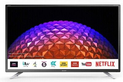 "Sharp 32"" Smart TV HD Ready Freeview HD with Freeveiw Play, USB, PVR + Netflix"