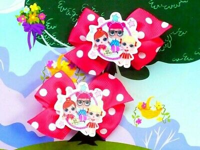 LOL Surprise Inspired Handmade Hair Clips Dress Up Costume Confetti Pop Doll Toy