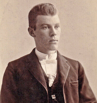 """Walter Willis"" - 1890s Cabinet Photo - Bauslaugh - Seaforth, Ontario, Canada"