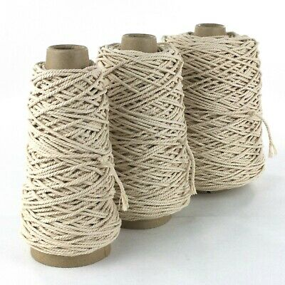 STRONG THICK MACRAME STRING ROPE 1KG CONE 4 6mm SOFT COTTON BULKY KNITTING YARN