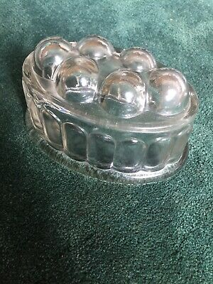 Jelly Mould Vintage X1 Large  Unusual Collectable Glass