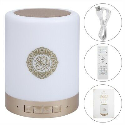 Portable 8GMP3 Touch LED Lamp Wireless Remote Control Bluetooth Quran Speaker