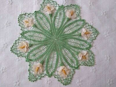Vintage Hand Crochet Calla Lily Doily