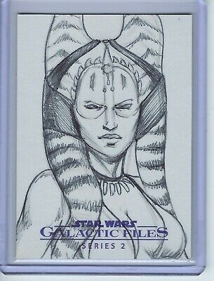 2013 Star Wars Galactic Files Series 2 Shaak Ti Sketch Card 1 of 1 1/1