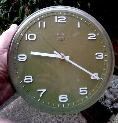 Vintage 1970s Green Metamec Kitchen Clock