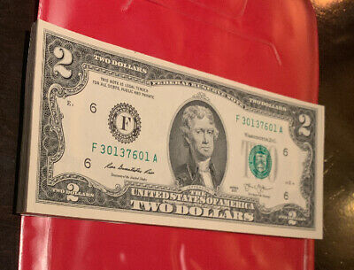 CRISP 2013 UNCIRCULATED USA $2 TWO DOLLAR BILL NOTE SEQUENTIAL ORDER Pack Of 50