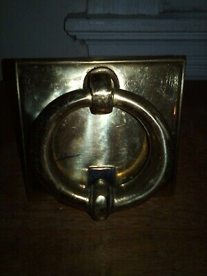 Vintage Lombard English Brass Door Knocker