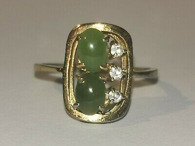 Antique Art Deco Jade Ring - Metal Detecting Find