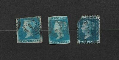 Queen Victoria 'Two Pence' Stamps x 3