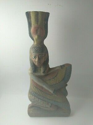 RARE ANCIENT EGYPTIAN ANTIQUE ISIS Statue Stone of Wings Isis 2686-2181 BC