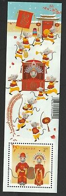 Canada 2020 Year of the Rat ;  Souvenir Sheet ;  USED VERY FINE