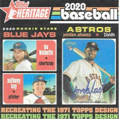 2020 Topps Heritage Baseball COMPLETE 500 CARD SET 400 Base +100 SP PRESELL 2-26