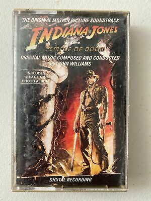 Original Indiana Jones And The Temple Of Doom Motion Picture Soundtrack Cassette