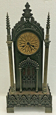Antique 1830 French Bronze Silk Thread Mantel Clock
