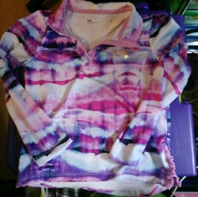 Girls Under Armour UA 1/4 Zip Pullover. Size 5. Purple. Pink