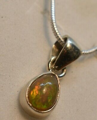 Solid Aust Red Crystal Opal- Quality S/Silver Pendant from AAopals P72