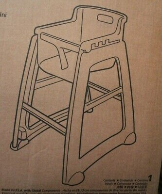 Rubbermaid Commercial Products Sturdy Chair Ready for Installation Highchair
